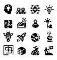 creative idea imagine icon set vector image vector image