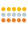 cryptocurrency logo set for christmas fairs and vector image vector image