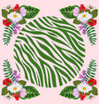 design for a square shawl or headscarf zebra vector image vector image