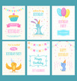design template cards with of vector image vector image