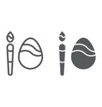 egg decoration line and glyph icon easter and vector image vector image