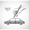 Hand drawing car vector image vector image