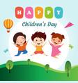happy children day background vector image vector image