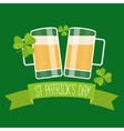 Happy St Patricks day green card vector image