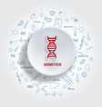 Icons for medical specialties genetics concept