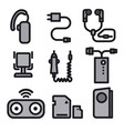 icons for mobile phone devices vector image vector image