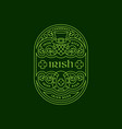 irish label vector image vector image