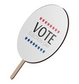 isolated voting paddle vector image vector image
