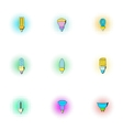 Light icons set pop-art style vector image vector image