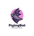 logo flying bat simple mascot style vector image