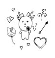 lovely deer the romantic from dandelions vector image