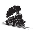monochrome pattern for design with retro train on vector image vector image