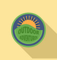 Outdoor sun adventures logo flat style