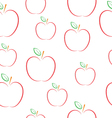 Pattern with apples on a white background vector image vector image