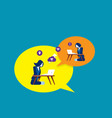 people who communicate on internet graphic vector image vector image