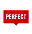 perfect red tag vector image vector image