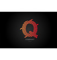 q orange alphabet letter logo icon design for vector image vector image