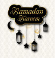 ramadan kareem greeting card with traditional vector image