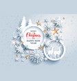 realistic paper cut holiday card vector image vector image