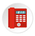 red classic business office phone icon circle vector image vector image