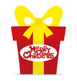 red gift box for christmas vector image vector image