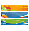 set contemporary transport banners vector image vector image