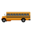 side of old school bus mockup realistic style vector image vector image