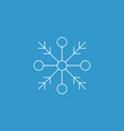 snowflake icon white silhouette snow flake sign vector image