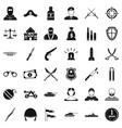 soldier weapon icons set simple style vector image vector image