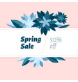 spring sale design template with beautiful vector image vector image
