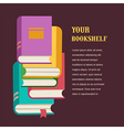 stack of books concept design vector image vector image