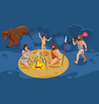 stone age family composition vector image vector image