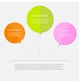 three balloon infographic with dash line flat