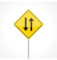 Two way traffic sign vector image vector image