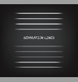 various grunge chalk line separators vector image
