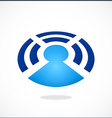 Wireless bluetooth people communication logo vector image