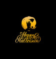 with happy halloween lettering vector image vector image