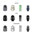 women clothing cartoonblackmonochrome icons in vector image vector image