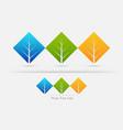 eco friendly three tree leaf concept vector image