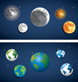 Set of Globe and moon icon vector image