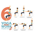 6 yoga poses for working at home vector image