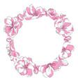 a circle sakura flowers a vector image vector image