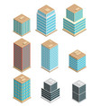 a of modern sate of the art office buildings vector image vector image
