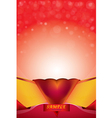 abstract background Heart bokeh red card Valentin vector image vector image