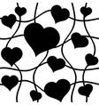 abstract black hearts over white seamless vector image