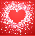 abstract love for your valentines day vector image vector image