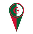 algeria map pointer location flag vector image