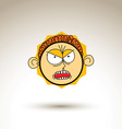 artistic colorful drawing of furious person face vector image