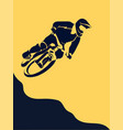 bicycle racer extreme vector image