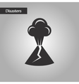 black and white style volcano erupting vector image vector image